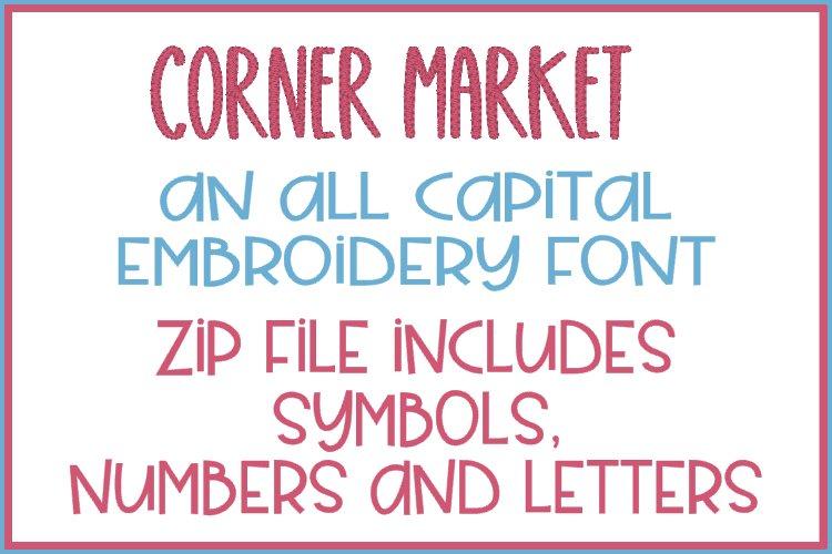 Corner Market - Embroidery Font
