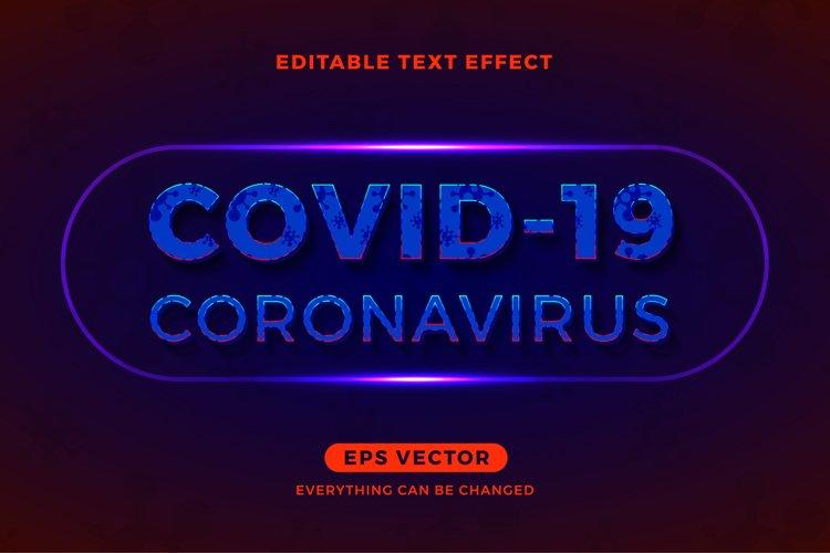 Coronavirus editable text effect vector template