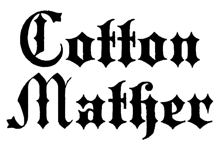 Cotton Mather example image 1
