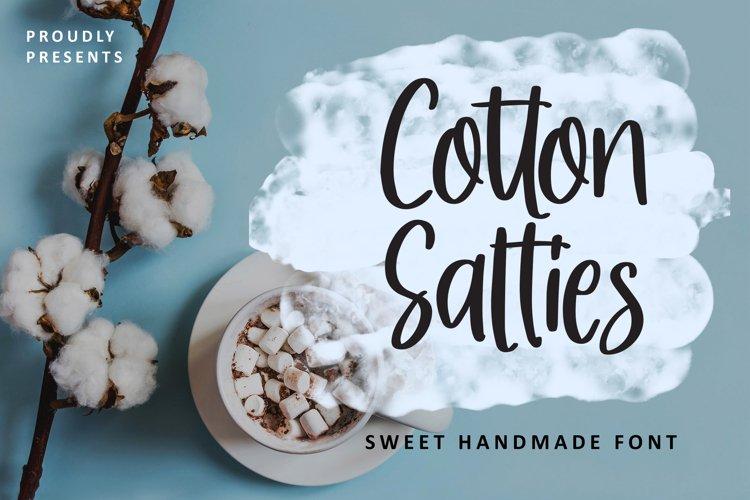Cotton Salties - Sweet Handmade Font example image 1