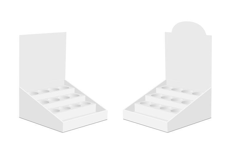 Counter Display Box with Shelves Isolated example image 1
