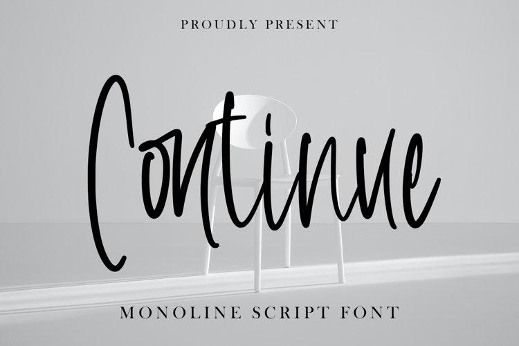 Continue - Monoline Script Font example image 1