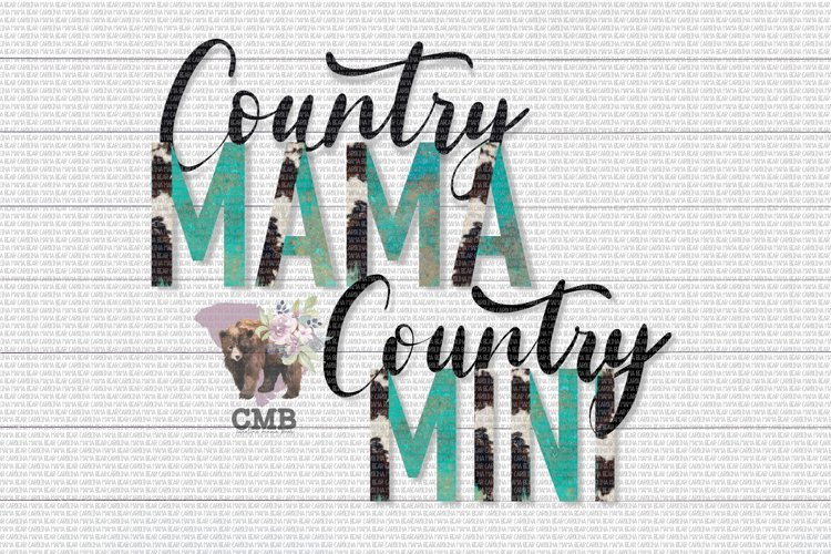 Country Mama & Mini PNG File / Sublimation Clipart File