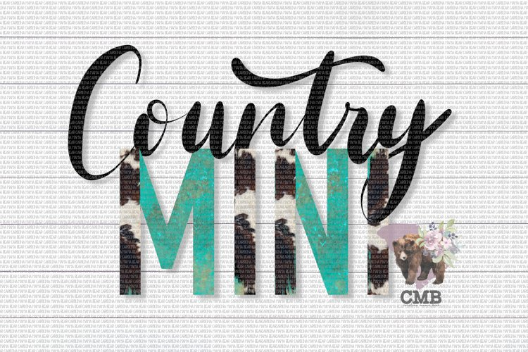 Country Mini PNG File / Sublimation Clipart File