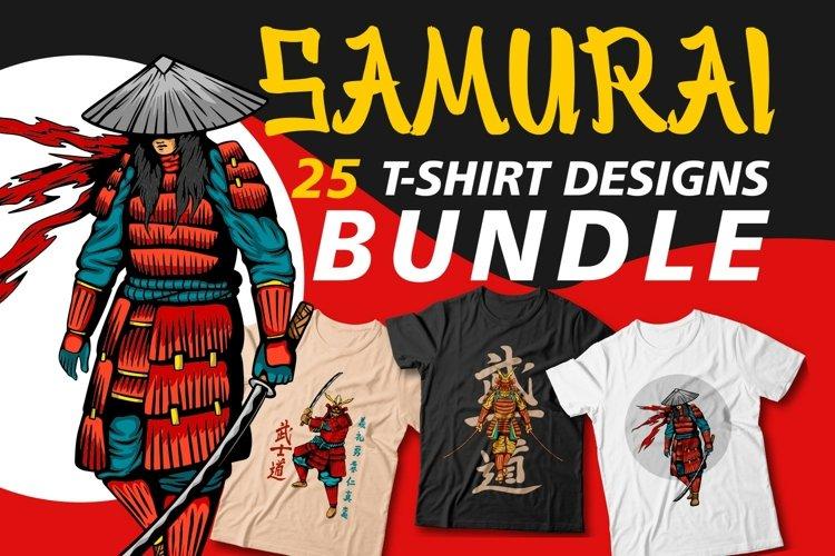 Samurai t shirt design bundles vector sublimation svg png
