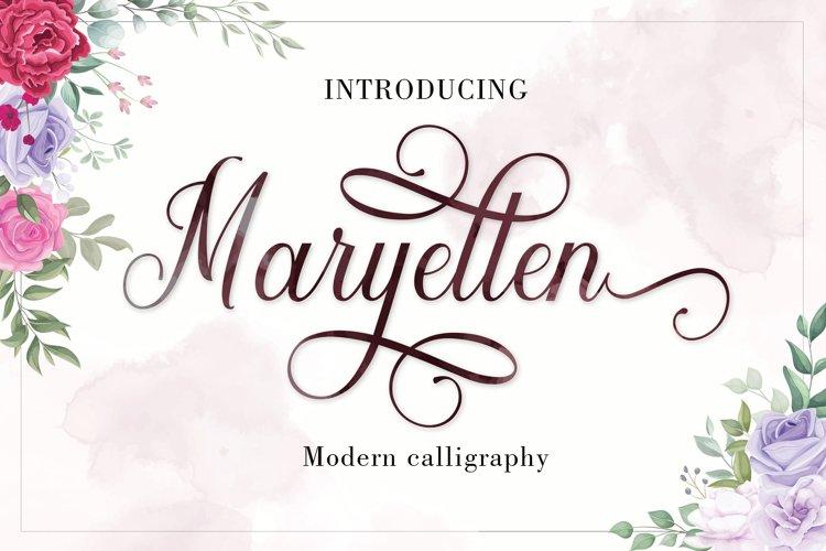 Maryellen Script   WEBFONT example image 1