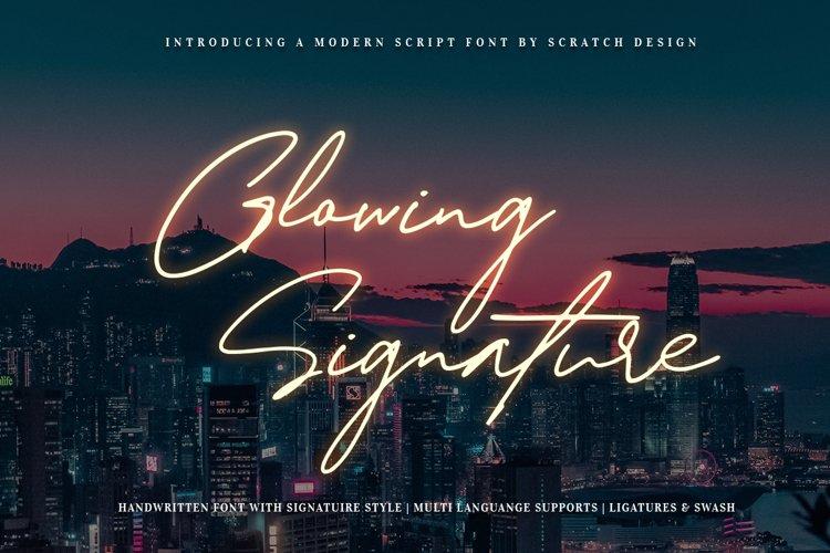 Glowing Signature example image 1