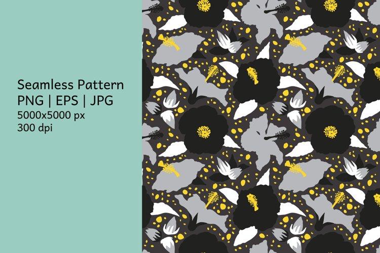 Hibiscus flower pattern|Tropical background|Digital Paper