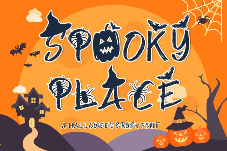 Spooky Place - A Halloween Brush Font example image 1