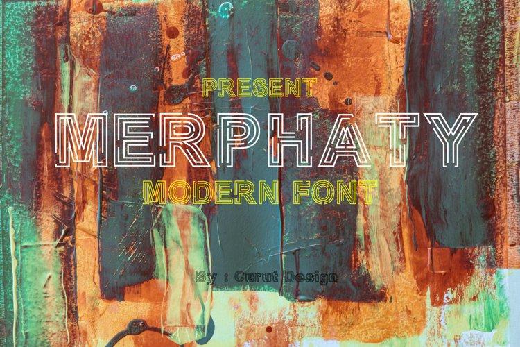 Merphaty Display Font example image 1
