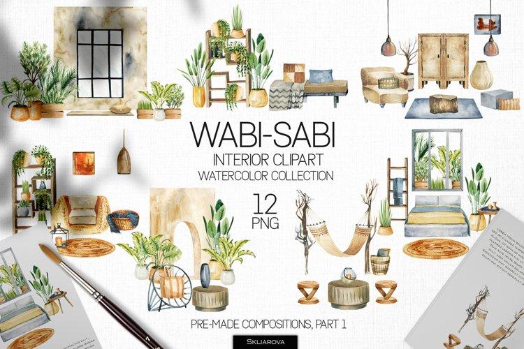 Wabi-sabi interior scenes clipart, Part 1