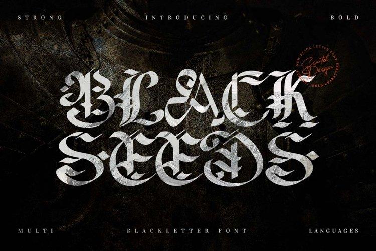 Blackseeds - Blackletter Font example image 1