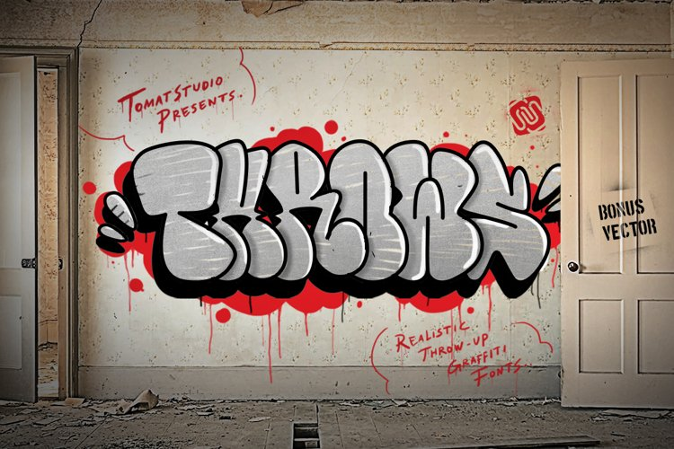 Graffiti fonts   Throws example image 1