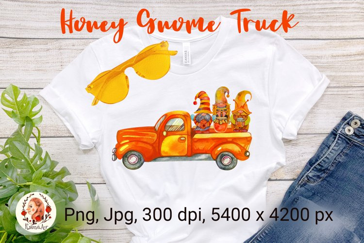 Bee Gnomes. Honey Bee. Gnome Truck. Bumble Bee.