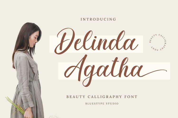 Delinda Agatha - Modern Script Calligraphy