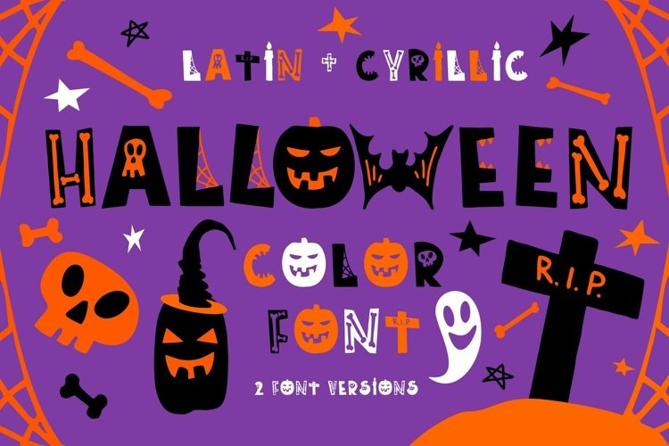 Halloween color font example image 1