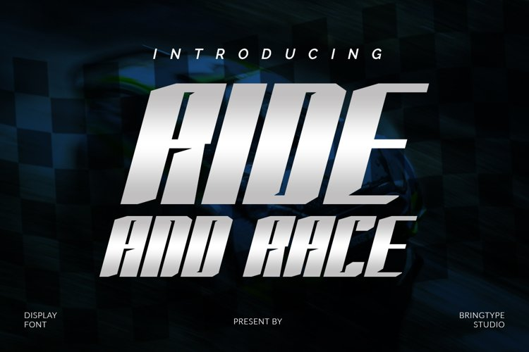 RIDE AND RACE example image 1