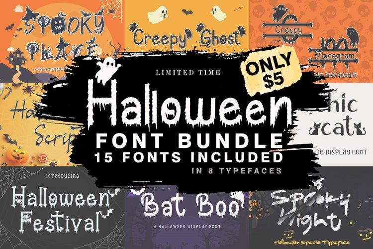 The Halloween Craft Fonts Bundle example image 1
