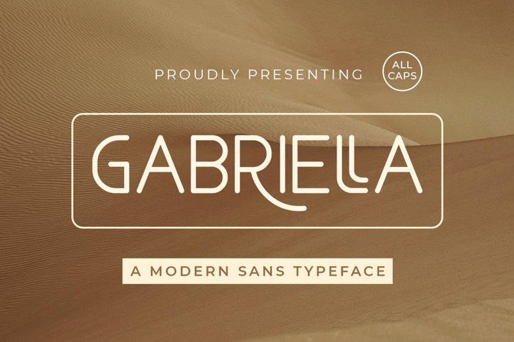 Gabriella - Modern Sans Typeface example image 1
