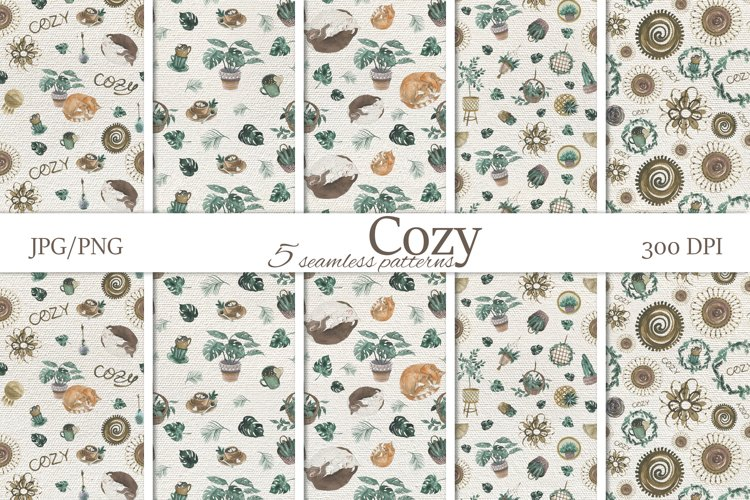 Cozy home collection. Seamless pattern.