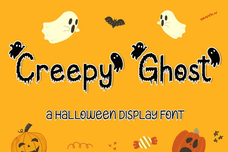 Creepy Ghost - A Halloween Display Font example image 1