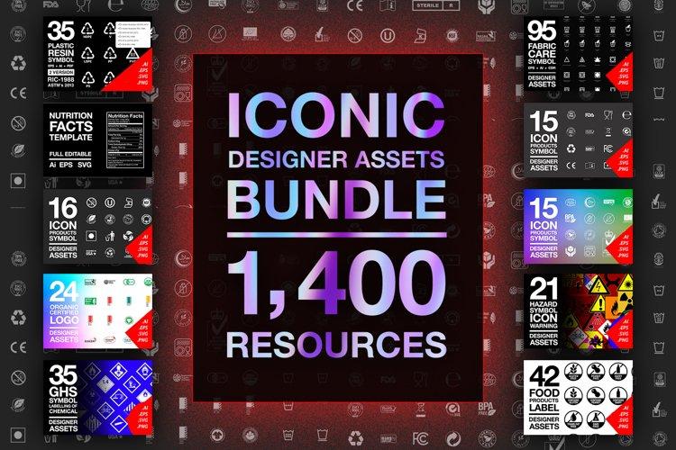 Iconic Designer Assets Bundle 1400 Resources example image 1