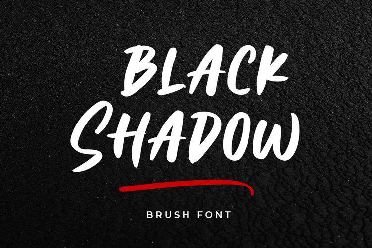 Black Shadow - Brush Font example image 1