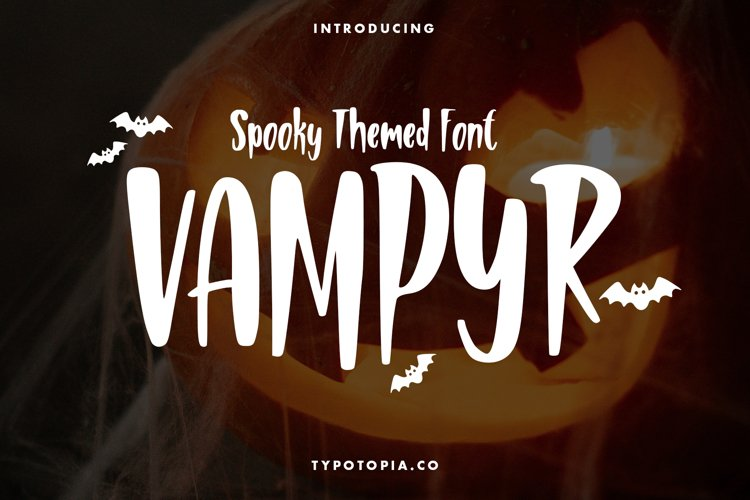Vampyr Spooky Themed Font example image 1