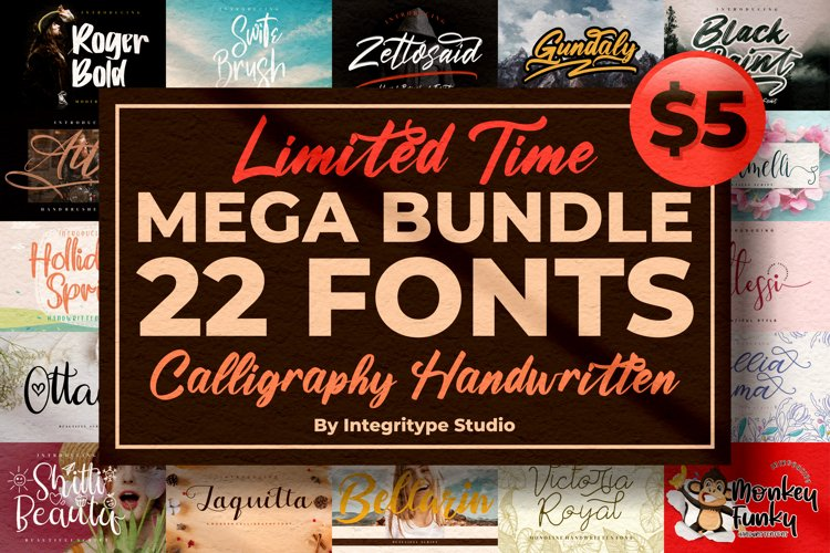 All Fonts Collection - Calligraphy & Handwritten Font Bundle example image 1