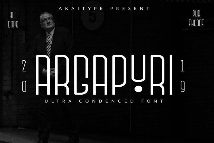 Argapuri - Ultra Condensed Font example image 1