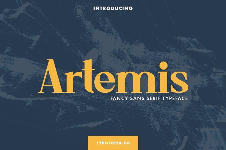 Artemis Fancy Sans Serif Typeface example image 1