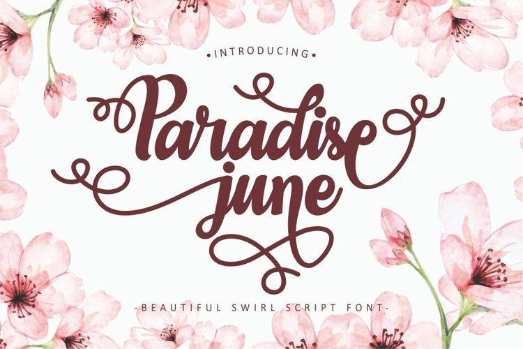 Paradise June - Beautiful Swirl Script Font example image 1