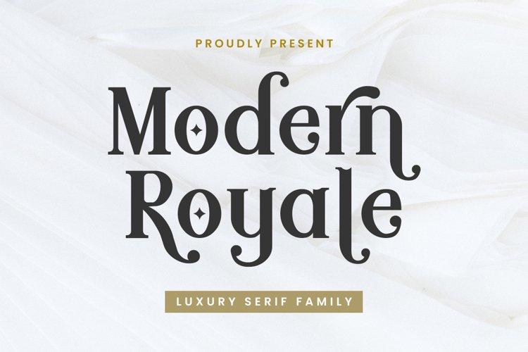 Modern Royale - Serif Typeface example image 1
