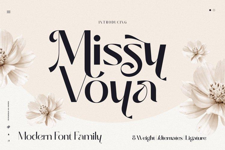 Missy Voya - Modern font family example image 1