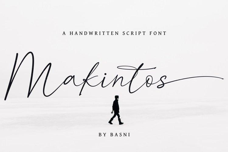 Makintos A Handwritten Script font example image 1