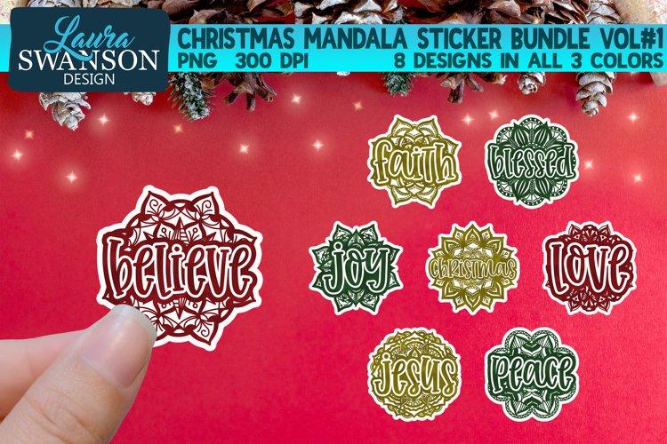 Christmas Mandala Sticker Bundle Vol#1 | Sticker Set