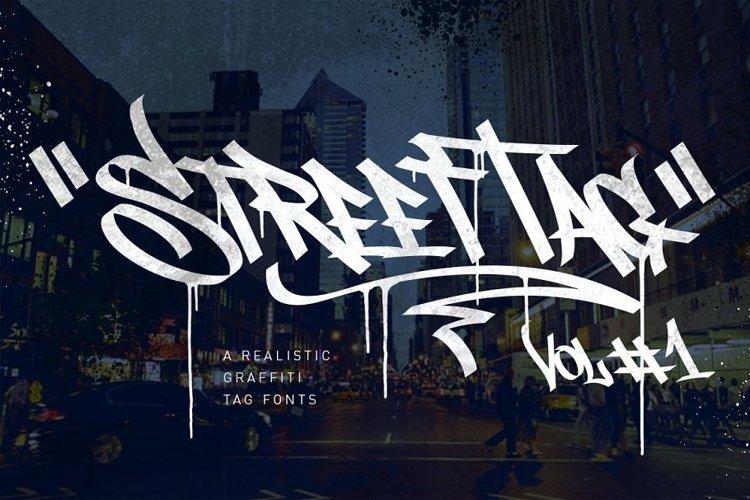 Graffiti Font   Street Tag Vol1 example image 1