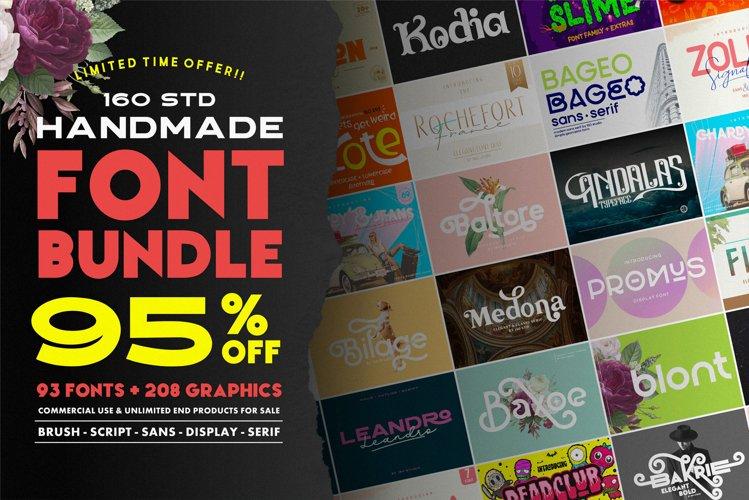 160 Studio Font Bundle | 95 OFF example image 1