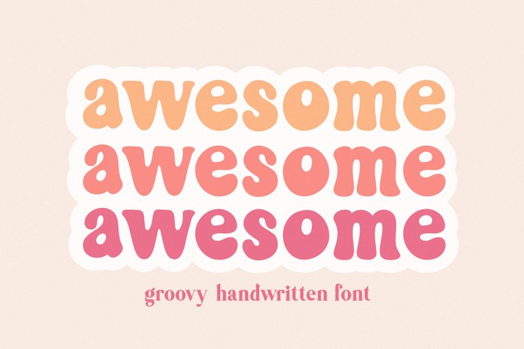Awesome Groovy Font for Crafters example image 1