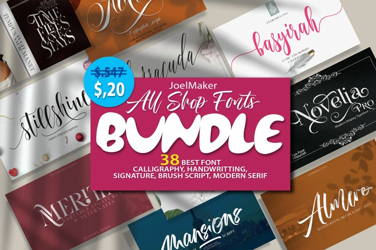 All Shop Font BUNDLE example image 1