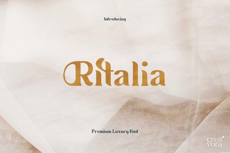 Ritalia - Elegant Serif Font example image 1