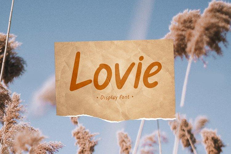 Lovie - Display Font example image 1