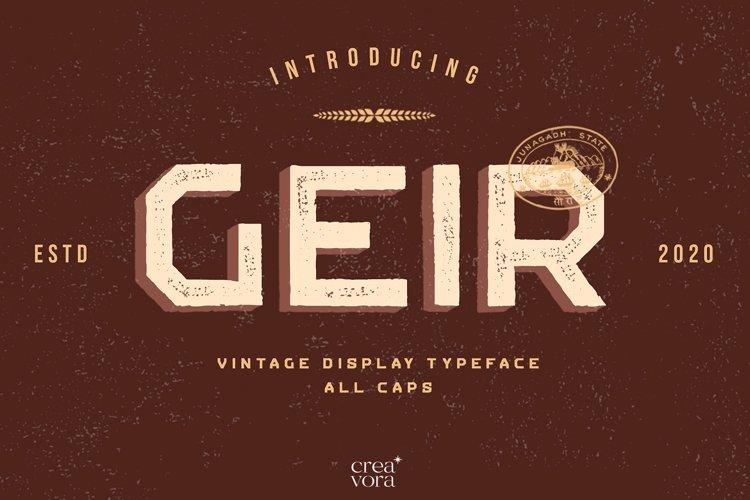 GEIR - Vintage Display Font example image 1