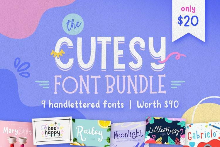 The Cutesy Font Bundle 9 Fonts! example image 1