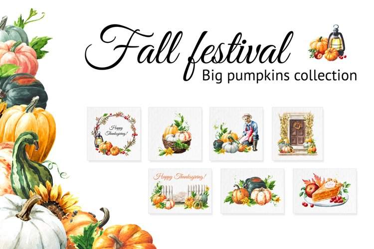 Fall festival. Pumpkins collection