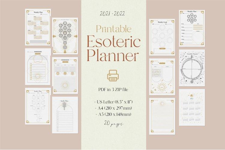 Printable Esoteric planner