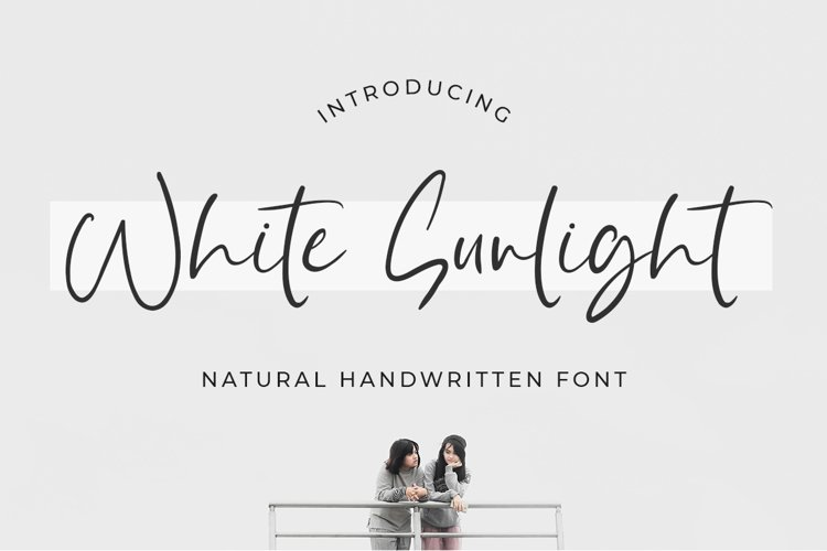 White Sunlight - Natural Brush Font example image 1