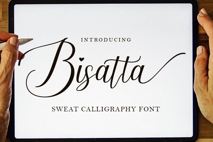 Bisatta  Calligraphy Font example image 1