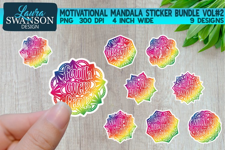 Motivational Mandala Sticker Bundle Vol#2 | Sticker Set