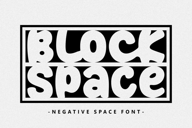 Block Space - Negative Space Font example image 1